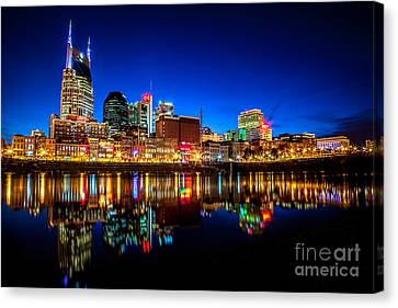 A Tame Nashville Night Canvas Print