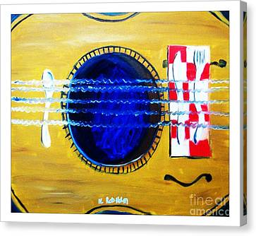 A Taste In Music Canvas Print by Nathan Rodholm