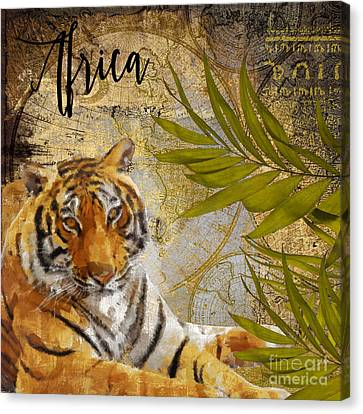 A Taste Of Africa Tiger Canvas Print by Mindy Sommers