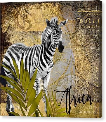 A Taste Of Africa Zebra Canvas Print