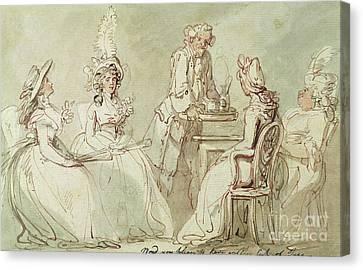 A Tea Party Canvas Print
