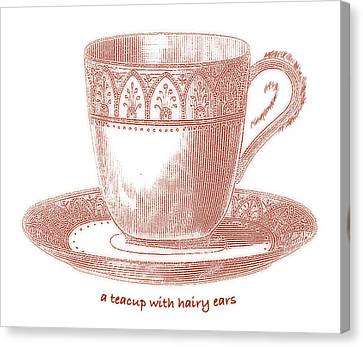 A Teacup With Hairy Ears Canvas Print by Frank Tschakert