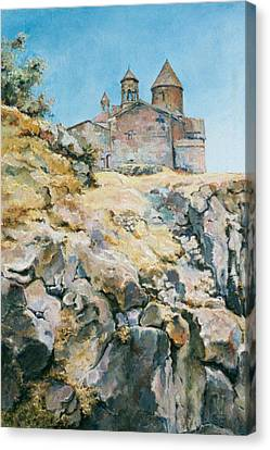 A Temple On The Rock Canvas Print by Tigran Ghulyan