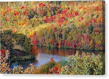 A Tennessee Autumn Canvas Print by Debbie Karnes