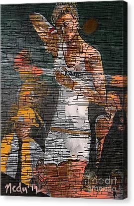 A Tennis Player Canvas Print by Nedunseralathan R