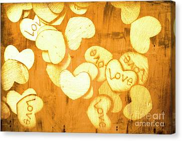 A Texture Of Vintage Love Canvas Print