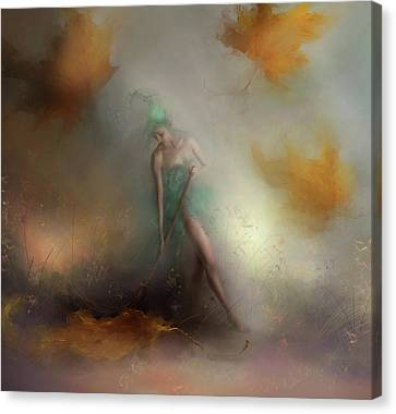 A Thankless Task... Autumn Leaves Canvas Print by Joe Gilronan