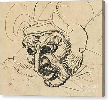 A Threatening Head Canvas Print