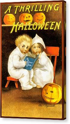 A Thrilling Halloween Canvas Print