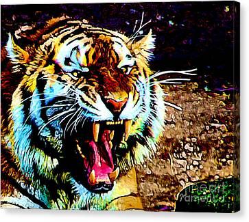 A Tiger's Roar Canvas Print