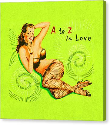 Booze Canvas Print - A To Z In Love by Tiki Bender