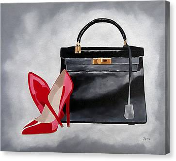 Grace Canvas Print - A Touch Of Class by Rebecca Jenkins