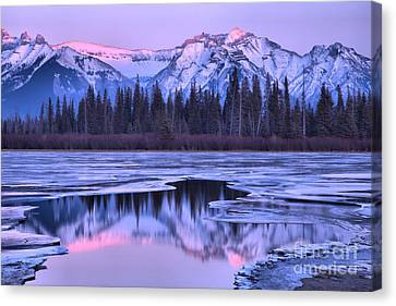 Canvas Print - A Touch Of Pink In Vermilion Lakes by Adam Jewell