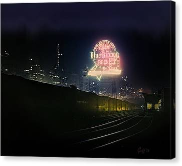 A Train's A Comin' 1948 Canvas Print