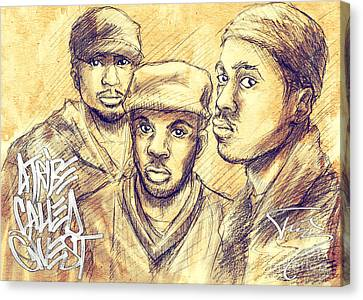 Rest In Peace Canvas Print - A Tribe Called Quest by Tuan HollaBack