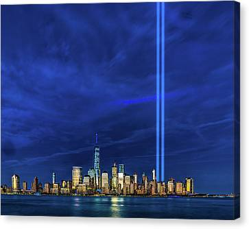 Canvas Print featuring the photograph A Tribute At Dusk by Chris Lord