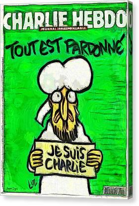A Tribute For Charlie Hebdo Canvas Print by Leonardo Digenio