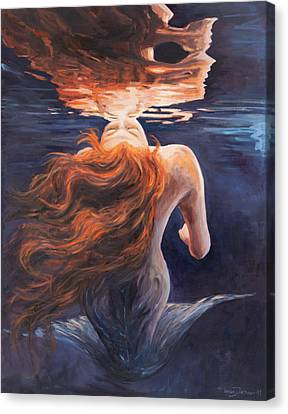 Kiss Canvas Print - A Trick Of The Light - Love Is Illusion by Marco Busoni
