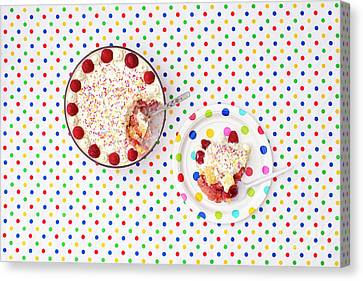 A Trifle Dotty Canvas Print by Tim Gainey