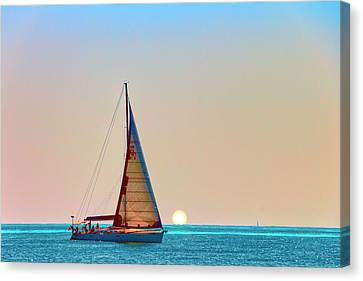A Trip On A Yacht, Probably One Of The Most Romantic Adventure Vacation Canvas Print by George Westermak