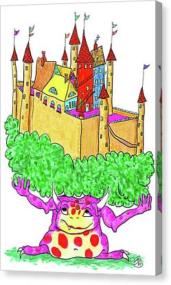 A Troll And Her Castle Canvas Print