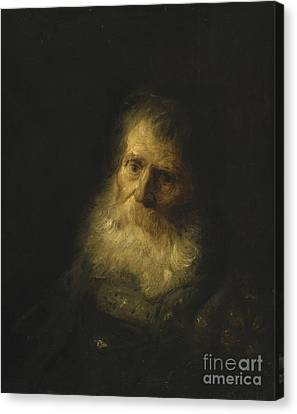 A Tronie The Head And Shoulders Of An Old Bearded Man Canvas Print by Celestial Images