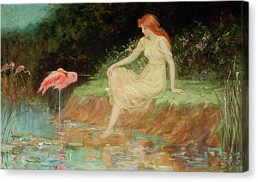 A Trusting Moment Canvas Print by Frederick Stuart Church