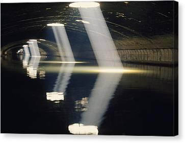 A Tunnel On Canal Saint Martin Allows Canvas Print
