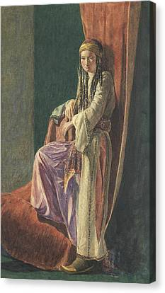 A Turkish Girl Canvas Print by George Price Boyce
