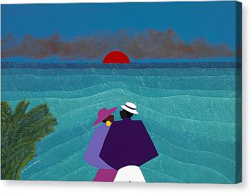 Canvas Print - A Turks And Caicos Sunset by Synthia SAINT JAMES