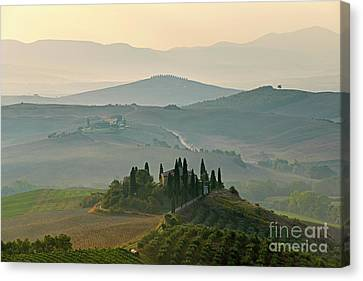 A Tuscany Landscape Sunrise Canvas Print by Traveled Walls