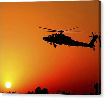 A U.s. Army A-64 Apache Helicopter Canvas Print by Stocktrek Images