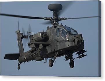 A U.s. Army Ah-64 Apache Helicopter Canvas Print by Stocktrek Images