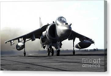 A U.s. Marine Corps Av-8b Harrier Canvas Print by Stocktrek Images