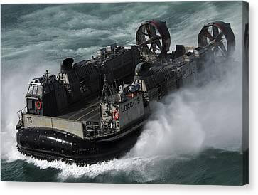 A U.s. Navy Landing Craft Air Cushion Canvas Print by Stocktrek Images