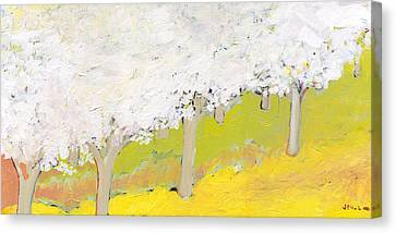 A Valley In Bloom Canvas Print by Jennifer Lommers