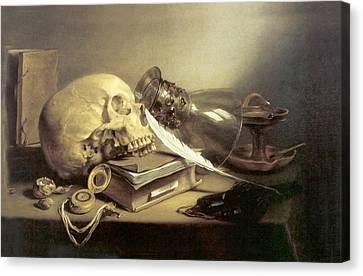 A Vanitas Still Life Canvas Print by Pieter Claesz