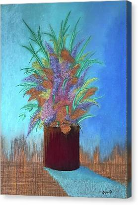 A Vase Of Flowers Canvas Print by Harvey Rogosin