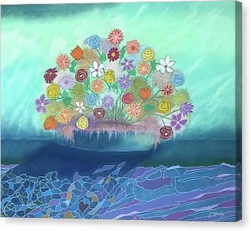A Vase Of Flowers IIi Canvas Print by Harvey Rogosin
