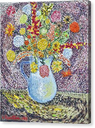 A Vase With Flowers Canvas Print