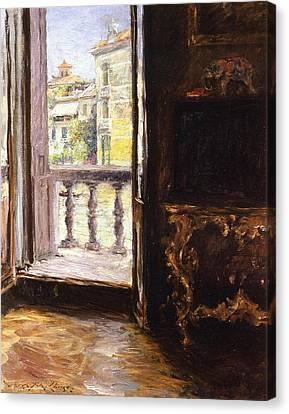 A Venetian Balcony Canvas Print