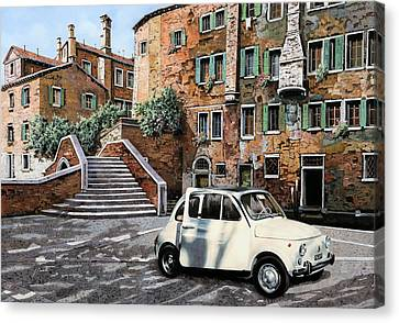 a Venezia in 500 Canvas Print by Guido Borelli