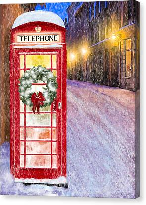 Warm Canvas Print - A Very British Christmas by Mark Tisdale
