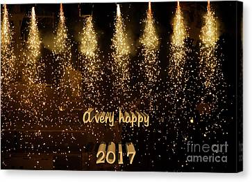 A Very Happy 2017 Canvas Print by Patricia Hofmeester