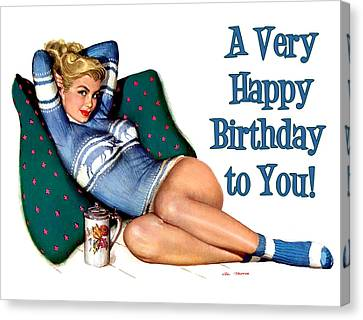 Canvas Print - A Very Happy Birthday To You by Long Shot