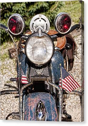 A Very Old Indian Harley-davidson Canvas Print