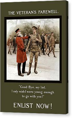 A Veteran's Farewell - Ww1 Canvas Print by War Is Hell Store