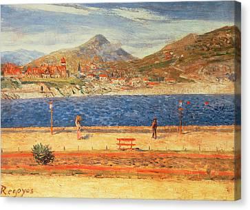 A View Across The Water Canvas Print by Diario or Dario de Regoyos y Valdes