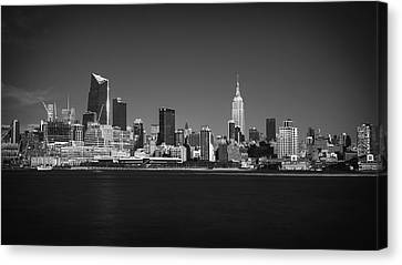 Canvas Print featuring the photograph A View From Across The Hudson by Eduard Moldoveanu