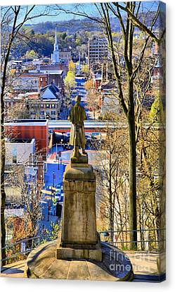 Canvas Print featuring the photograph A View From College Hill by DJ Florek